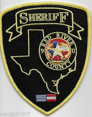 NEW RED RIVER County Sheriff State of TEXAS Shoulder Patch TX