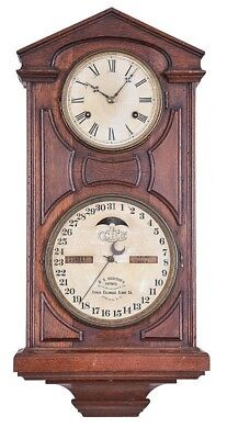 """Ithaca Calendar Clock Co., Ithaca, New York, """"No. 7 Hanging Cottage"""",... Lot 457"""