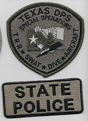 Set of 2 Texas DPS State Police SWAT Dive Aircraft Aviation TX