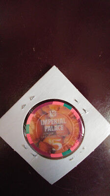 $5 Las Vegas Imperial Palace Happy Thanksgiving Casino Chip  MINT/NEW
