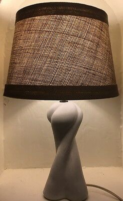 Van Briggle Pottery Moonglo twisted Lamp
