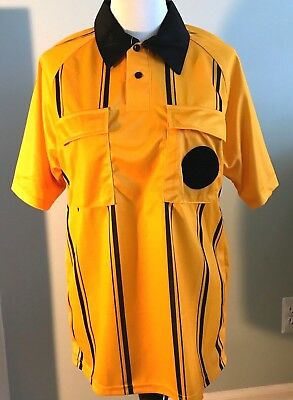 Kwik Goal Official Sports Soccer Referee Jersey Medium Yellow Gold