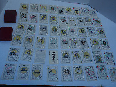 1915 Antique GOING TO MARKET Postum Cereal 54 Deck Card Game Ads + Instructions