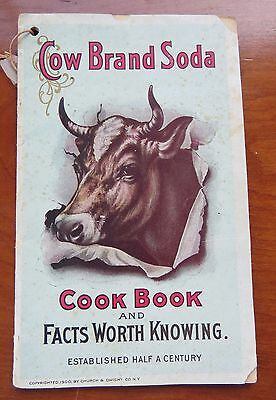 c.1900 Cow Brand Soda Cook Book & Facts Worth Knowing Pamphlet