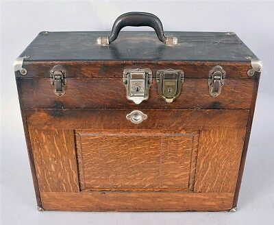 H. Gerstner & Sons, Dayton, Ohio, machinist's chest in oak with hinge... Lot 757