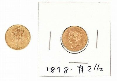 US $2 1/2 (Two and a Half) Dollar Gold Piece- 2 (Two): 1926 sesquicen... Lot 745