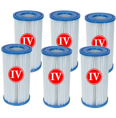 6 x Bestway Filter Cartridge IV 58095 for 2500gph Swimming Pool Pump