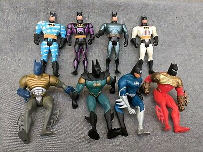 Lot of 8 Action Figure Vintage Batman The Animated Series 1994 Kenner DC Comics