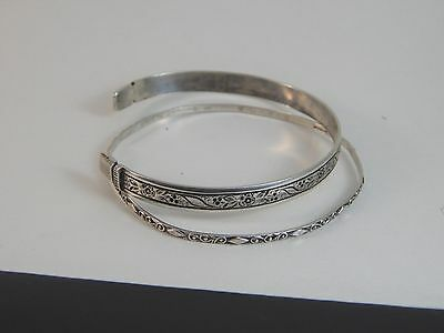 Two Vintage YDL Trinidad Sterling Silver Bracelets One Signed One Unmarked