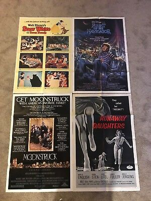 Lot of 4 original vintage 27x41 one sheet movie posters! 1940s - 1990s