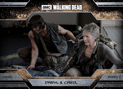 Topps Walking Dead Allegiance Series 2 Daryl Dixon and Carol Peletier DUST