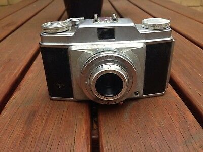 agfa vintage camera with case