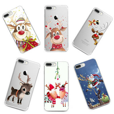 Christmas Case Ultra Thin Slim Silicone Soft Rubber TPU Back Case Skin Cover