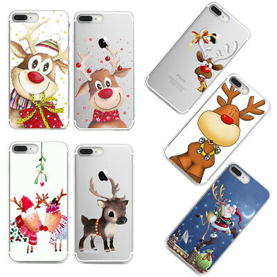 Fr iPhone X Xs Max Xr 7 Plus 6 Christmas Soft Silicone TPU Skin Case Phone Cover