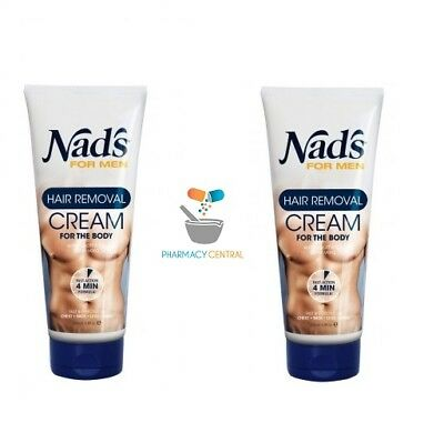2 x Nads Hair Removal Cream for Men 200ml
