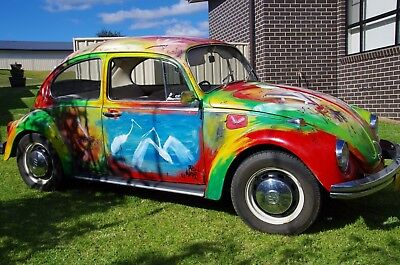 VW Beetle painted by Pro Hart