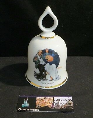 Norman Rockwell ceramic bell Trick or Treat Danbury Mint 1979 Limited Edition
