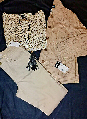 Womens Career/casual 4 Pc Fall Lot Outfit Designer Brands Ann Taylor + Sz 8-10