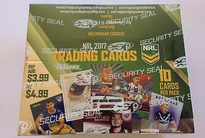 2017 NRL TRADERS RUGBY LEAGUE TRADING CARD FACTORY SEALED BOX - 36 Packs In Box