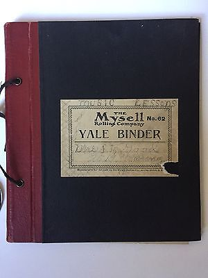 Antique Watermark Paper Mysell Rollins Company Yale Binder Bank Stock Paper