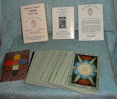PRE-OWNED ALEISTER CROWLEY THOTH TAROT DECK COMPLETE SET 1983 SIZE 3 1/2 x 5 1/2