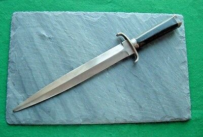 """Old Fighting Knife w/ Coffin Handle Bowie Forged Vintage 11"""" Dagger Toothpick NR"""