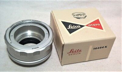 Leica No. 16464K Otzfo Bayonet To Screw Mount Lens Adapter - Minty Clean In Ob