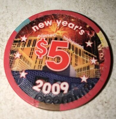Planet Hollywood $5 Casino Chip Las Vegas Nevada 2.99 Shipping