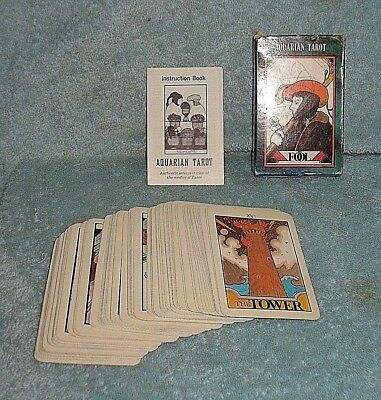 PRE-OWNED AQUARIAN TAROT DECK COMPLETE SET 1970 SIZE 3 x 4  3/4