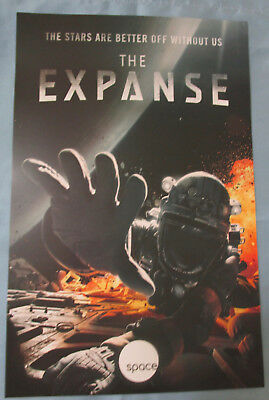The Expanse TV Show Promo Poster Fan Expo Comic Con 2017 Steven Strait Cas Anvar