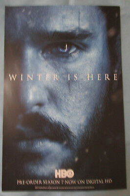 Game of Thrones / Westworld Double-sided TV Show Promo Poster Fan Expo 2017