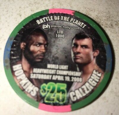 Planet Hollywood Hopkins vs Calzaghe $25 Casino Chip Las Vegas Nevada