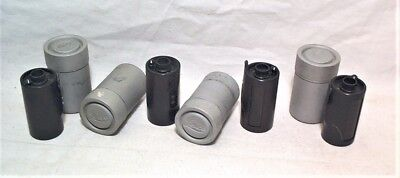 4 Leica Filca Or Ixmoo Reloadable 35Mm Film Magazines In Original Dove Gray Cans