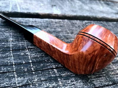HS STUDIO Road town, Bulldog Middle Shank style, Briar wood pipe---- unsmoked