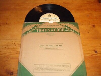 """Victoria - Chatham - Transacord Steam Sound Effects 10"""" LP - 1957 Rare Early"""