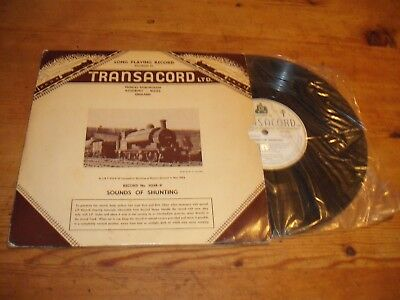 """Sounds of Shunting - Transacord Steam Sound Effects 10"""" LP - 1958 Rare Early"""