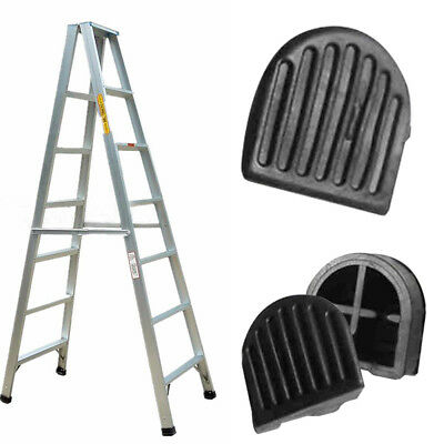 1Pc Black Rubber Ladder Anti-skidding Pad Durable Foot Strap Home Tool Accessory