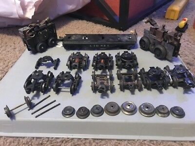 O Scale Lionel Metal Trucks, Axles, Wheels, Frame, And Two Motors