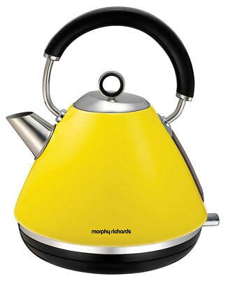 Morphy Richards Yellow Traditional Pyramid Kettle - 102025