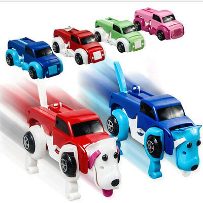 Transformers Wind-up Truck Dog Car Vehicle Model Toys Kids Educational Toy Green