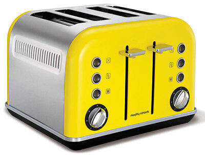 Morphy Richards Yellow 4 Slice Toaster - 242025