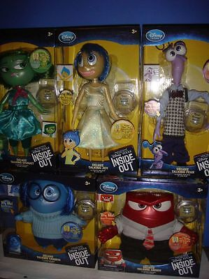 Disney Store Inside Out Talking Doll Joy Fear Disgust Sadness Anger