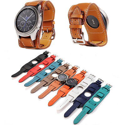 Cuff Bracelet Watch Genuine Leather Watch Band For Samsung Gear S3 Frontier New