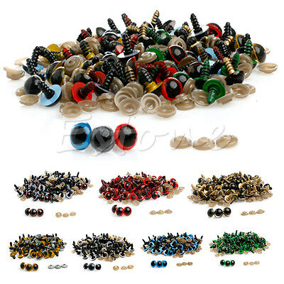 100Pcs/Set Plastic Safety Eyes For Teddy Bear Doll Animal Puppet Craft 10mm 18mm