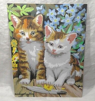 Adorable Paint by Number PBN KITTENS kitten kitty CATS 9x12 Finished Painting