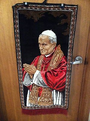 POPE JOHN PAUL II TAPESTRY LARGE 105cm x 50cm QUALITY VINTAGE RARE CHEAP AUS