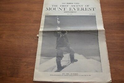 1953  July  The First Ascent Of Everest  Times Supplement Newspaper Of 32 Pages