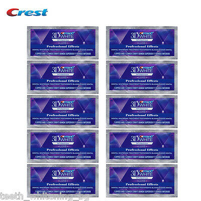20 Crest3D Professional Effects 10 Day Kit Teeth Whitening Strips