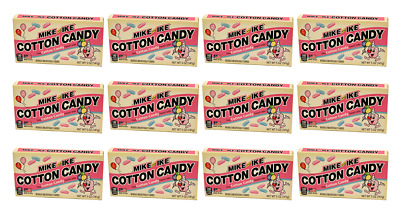 907905 12 x 141g THEATRE BOXES OF MIKE & IKE COTTON CANDY FLAVOR CHEWY CANDY USA