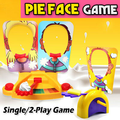 Hot Player Pie Face Showdown Whipped Cream Game Retail Box Christmas Gift Toy